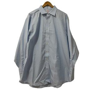 Brooks Brothers Men's Madison Blue Button Up Shirt